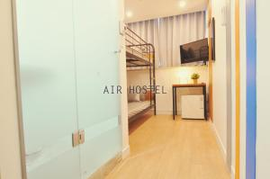 A kitchen or kitchenette at Air Hostel Myeongdong