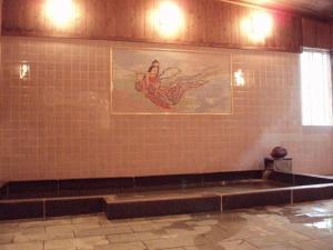 A bathroom at Tanakaya Ryokan
