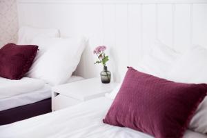 Säng eller sängar i ett rum på STF Zinkensdamm Hostel