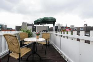 A balcony or terrace at Great Location in City Center Amsterdam