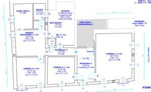 The floor plan of Ca San Luca