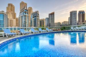 The swimming pool at or near Pearl Marina Hotel Apartment