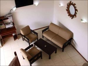 Uma área de estar em Villa Grote Berg Apartments
