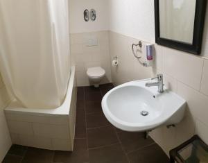 Ein Badezimmer in der Unterkunft Ferienwohnungen Fritsche-Bad Mergentheim