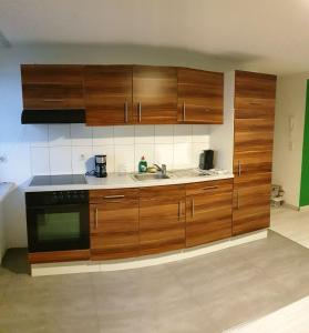 Küche/Küchenzeile in der Unterkunft Ferienwohnungen Fritsche-Bad Mergentheim