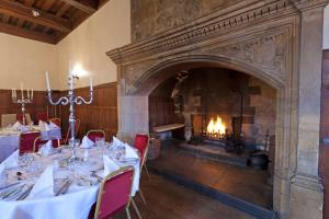 A restaurant or other place to eat at Monk Fryston Hall Hotel