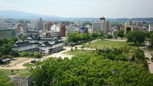 Toyama Daiichi Hotel dari pandangan mata burung