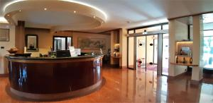 The lobby or reception area at Residence all'Adige
