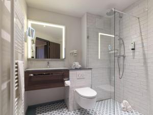 Ein Badezimmer in der Unterkunft Hotel Smartino