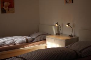 Ein Bett oder Betten in einem Zimmer der Unterkunft Sohre