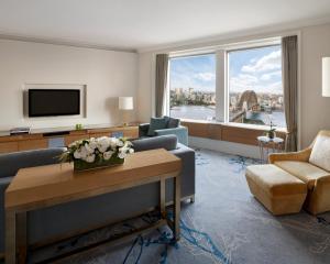 A seating area at Shangri-La Hotel, Sydney