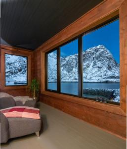 Lofoten Lodge Sea House om vinteren