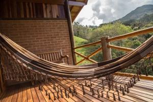 Uma varanda ou terraço em Chalés Alto dos Pires