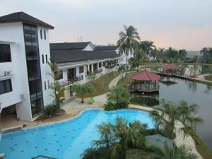 A view of the pool at Rukun Senior Living or nearby