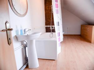 A bathroom at Tacskó Apartment