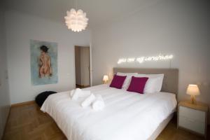 Postel nebo postele na pokoji v ubytování Bluscapes Home