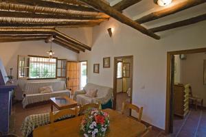 A seating area at Finca Rocabella