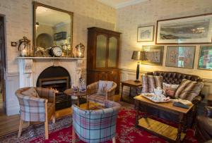 A seating area at Raheen House Hotel