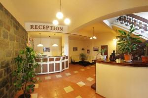 Zona de hol sau recepție la Hotel Praid