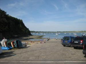 A beach at or near the chalet