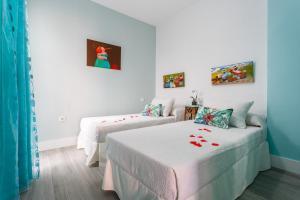 Cama o camas de una habitación en Apartamento Mar de Cadiz