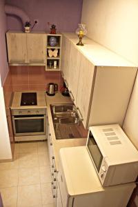 Kuchyň nebo kuchyňský kout v ubytování Apartment La Perla A2 BOL-CENTER