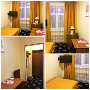 Кровать или кровати в номере Oktyabrskaya