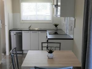 A kitchen or kitchenette at Rose Apartments Unit 6 Central Rotorua-Accommodation & Spa