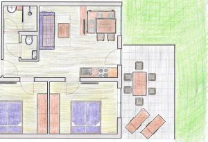 The floor plan of Appartements Klotz