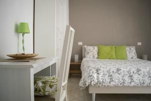 Letto o letti in una camera di Blunotte