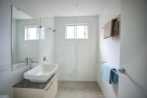 A bathroom at SUNLINE
