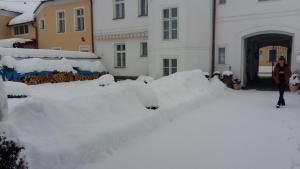 Pension Šejko during the winter