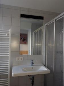 A bathroom at DAV-Haus (Alpenverein)