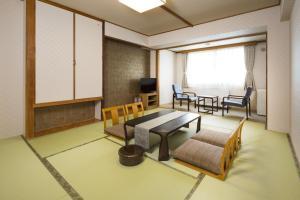A seating area at Yumoto Noboribetsu