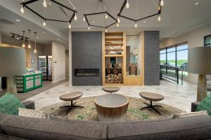 The lobby or reception area at Homewood Suites by Hilton Austin Downtown