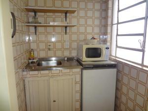 A kitchen or kitchenette at Hostel Nova Orla