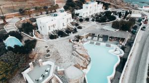 Vue panoramique sur l'établissement Dreambox Mykonos Suites