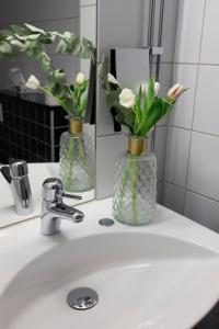 Ett badrum på Hotell Hjalmar