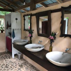 A bathroom at Sattva Land