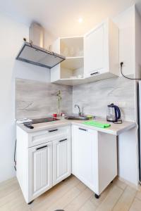A kitchen or kitchenette at 3-я Студия Боровское шоссе