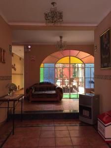 Coin salon dans l'établissement Posada Don Giorgio