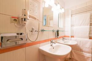 Kúpeľňa v ubytovaní Kúria Beckov - Penzión