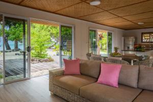 A seating area at Bora Bora Beach House