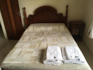 Cama o camas de una habitación en Casa Flor