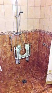 A bathroom at Hotel Viktória
