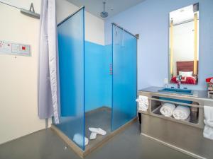A bathroom at The Keating Hotel by Pininfarina