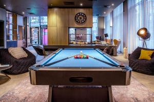 A pool table at Moxy Glasgow Merchant City