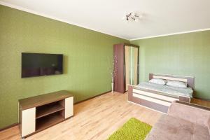 Телевизор и/или развлекательный центр в Apartments Abazhur on Kareltseva 101