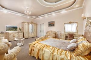 Кровать или кровати в номере Гостиница Версаль