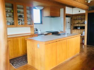 四万十川の宿 ゆうべ亭にあるキッチンまたは簡易キッチン
